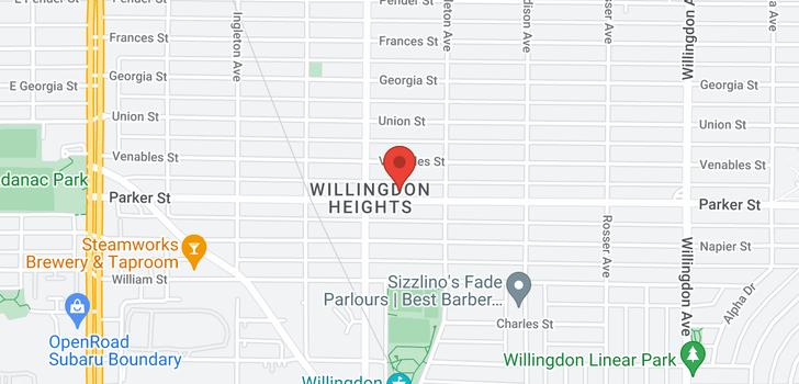 map of 4129 PARKER STREET