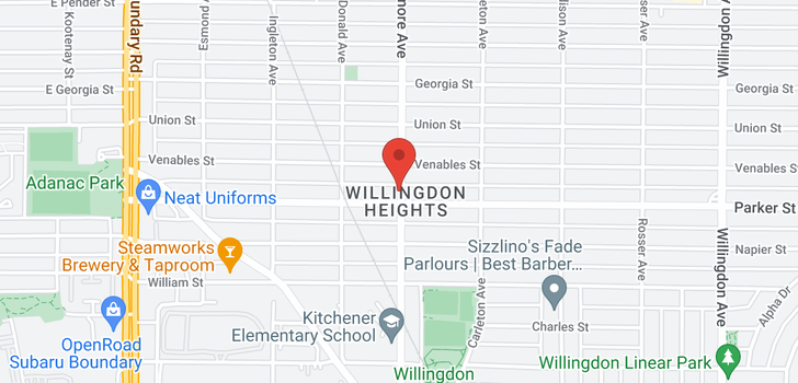 map of 959 GILMORE AVENUE