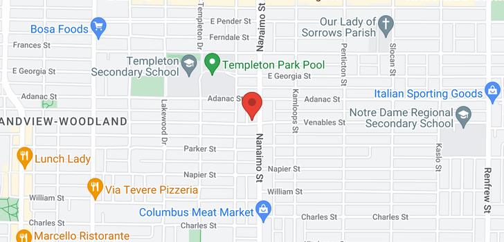 map of 885 NANAIMO STREET
