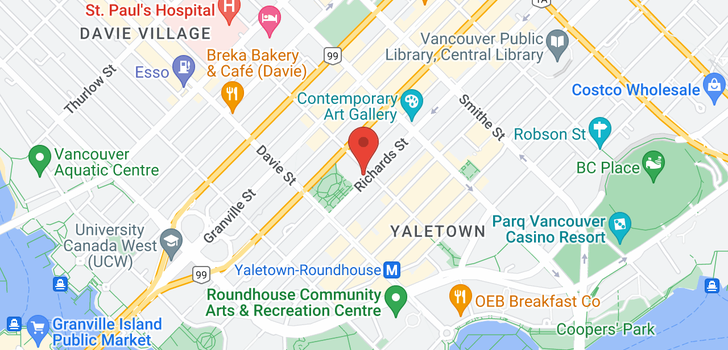 map of 1708 1111 RICHARDS STREET