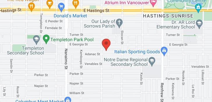 map of 2613 ADANAC STREET