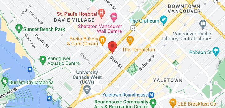 map of 2801 1188 HOWE STREET