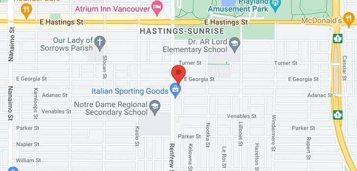 map of 736 RENFREW STREET
