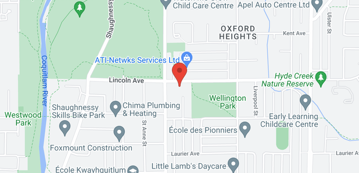map of 1876 LINCOLN AVENUE