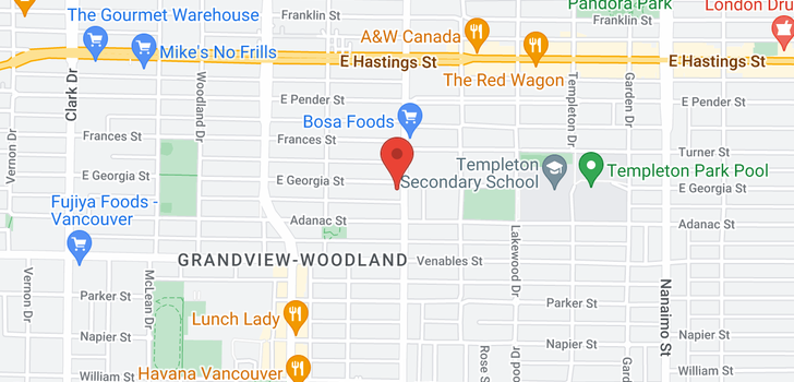 map of TH6 707 VICTORIA DRIVE
