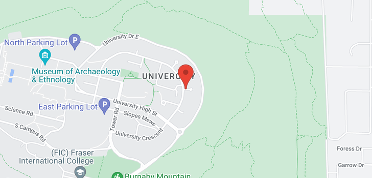 map of 804 9298 UNIVERSITY CRESCENT