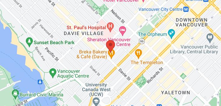 map of 704 1177 HORNBY STREET