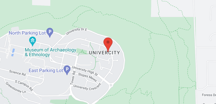 map of 132 9229 UNIVERSITY CRESCENT