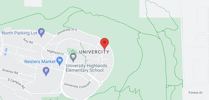 map of 606 9266 UNIVERSITY CRESCENT