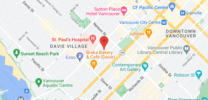 map of 3000 1050 BURRARD STREET
