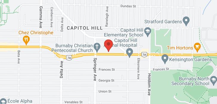 map of 308 5335 HASTINGS STREET