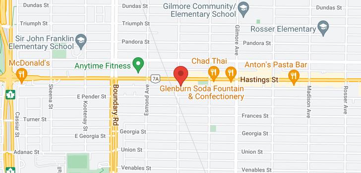map of 608 3920 HASTINGS STREET