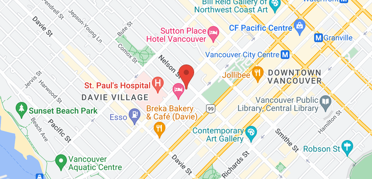 map of 2405 1028 BARCLAY STREET