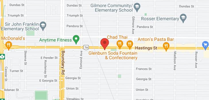 map of 907 3920 HASTINGS STREET