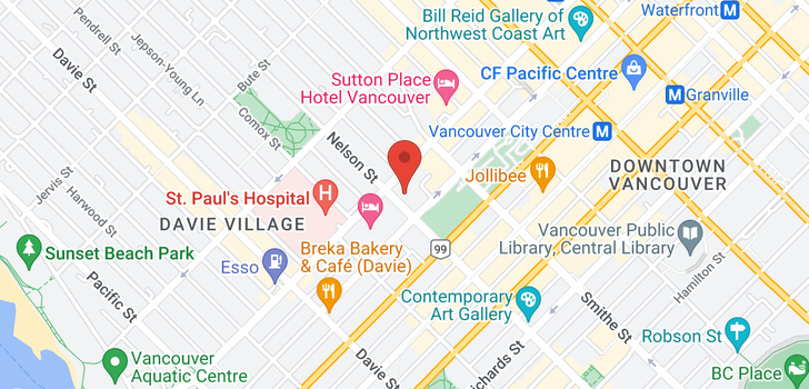 map of 1611 989 NELSON STREET