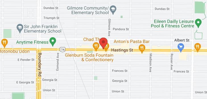 map of 4049 HASTINGS STREET