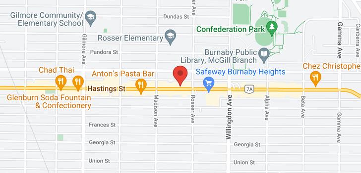 map of 407 4365 HASTINGS STREET