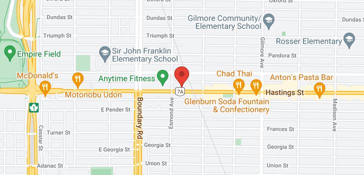 map of 112 3811 HASTINGS STREET