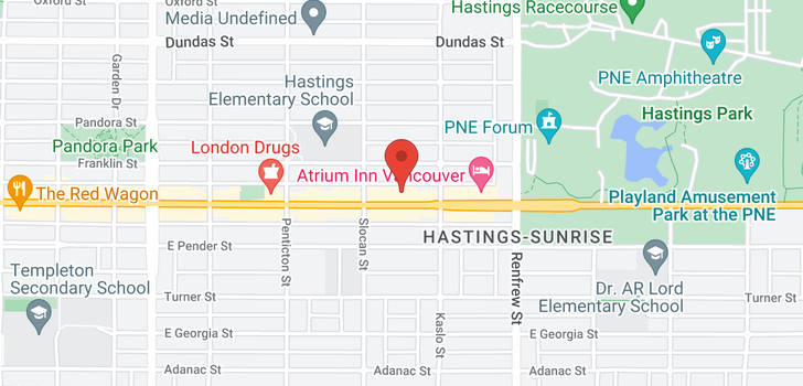 map of 303 2745 E HASTINGS STREET