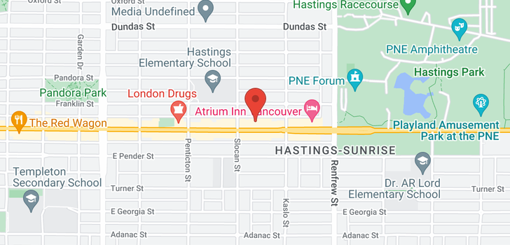 map of 304 2741 E HASTINGS STREET