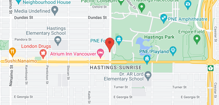 map of 202 315 RENFREW STREET
