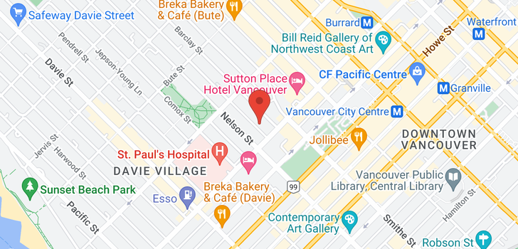 map of 1405 1028 BARCLAY STREET