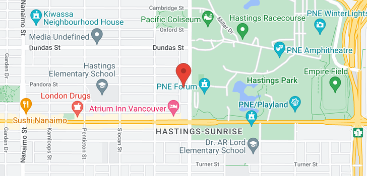 map of 211 RENFREW STREET
