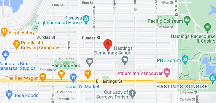 map of 2576 TRIUMPH STREET