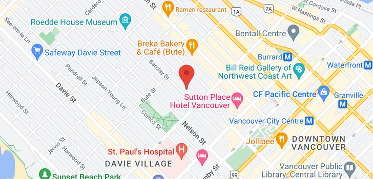 map of 403 1265 BARCLAY STREET
