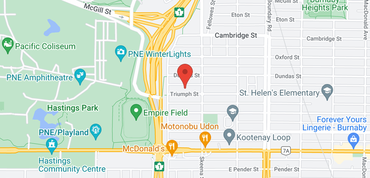 map of 3455 TRIUMPH STREET