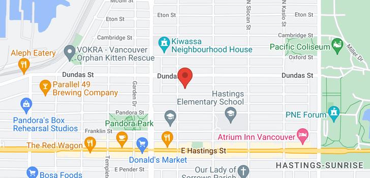 map of 2517 TRIUMPH STREET