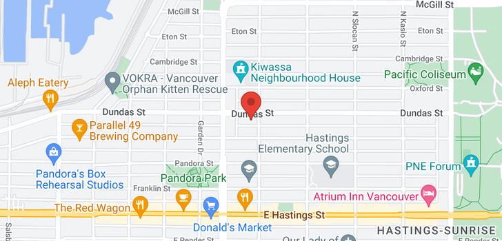 map of 2476 DUNDAS STREET