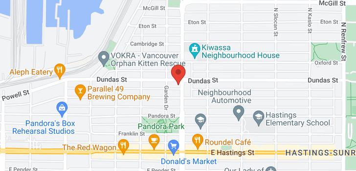 map of 201 29 NANAIMO STREET