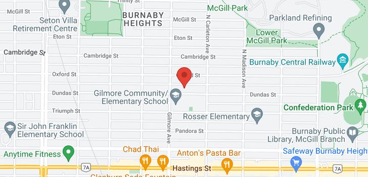 map of 4129 DUNDAS STREET