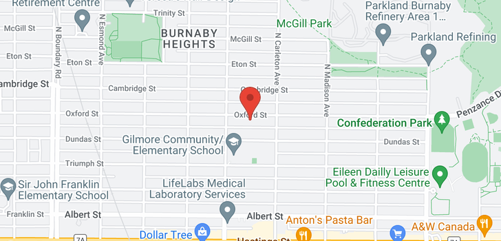 map of 4136 OXFORD STREET