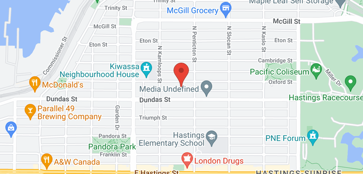 map of 2576 OXFORD STREET
