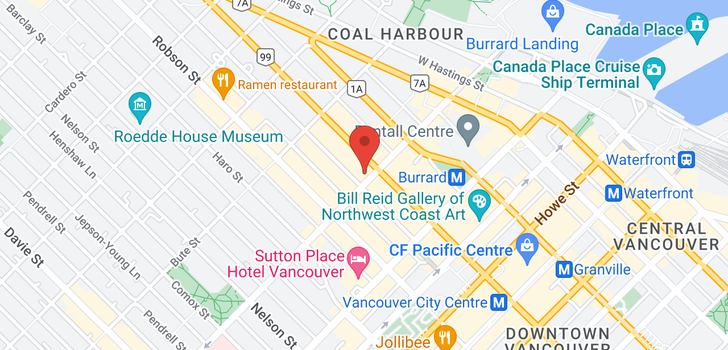 map of 3907 1111 ALBERNI STREET