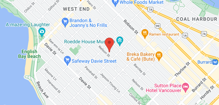 map of 310 1435 NELSON STREET