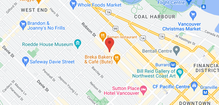map of 413 1270 ROBSON STREET