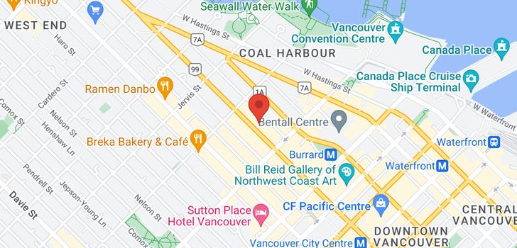 map of 5803 1151 W GEORGIA STREET