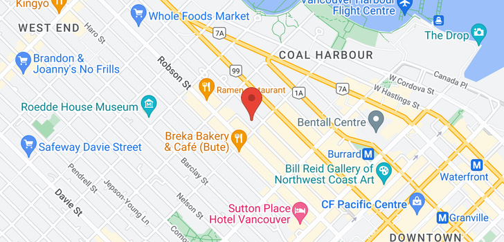map of 904 1200 ALBERNI STREET