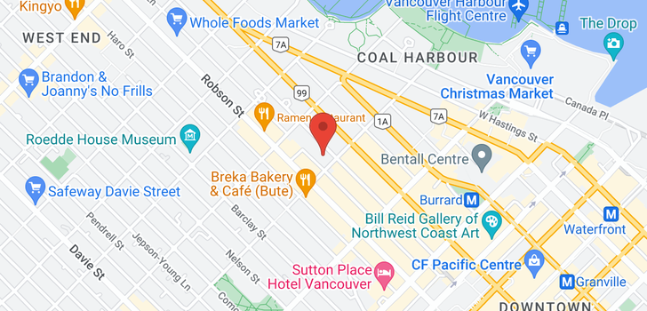 map of 1701 1200 ALBERNI STREET