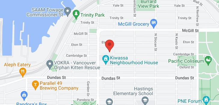 map of 2473 CAMBRIDGE STREET