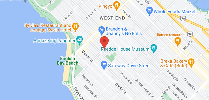 map of 1104 1221 BIDWELL STREET
