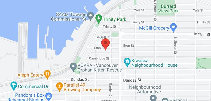 map of 109 2238 ETON STREET