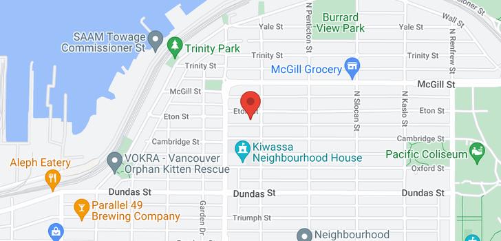 map of 2474 ETON STREET