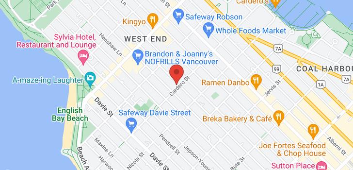 map of 977 CARDERO STREET
