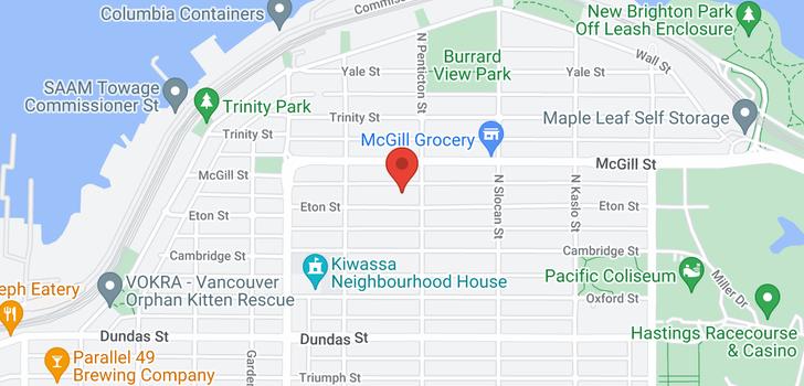 map of 2579 ETON STREET