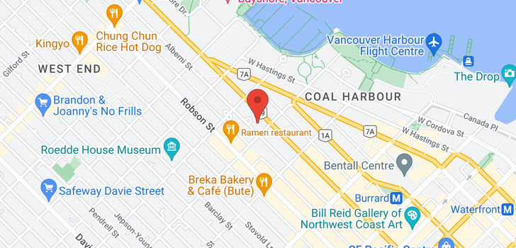 map of 1511 1331 ALBERNI STREET