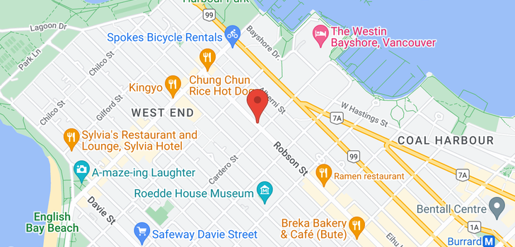 map of 406 828 CARDERO STREET